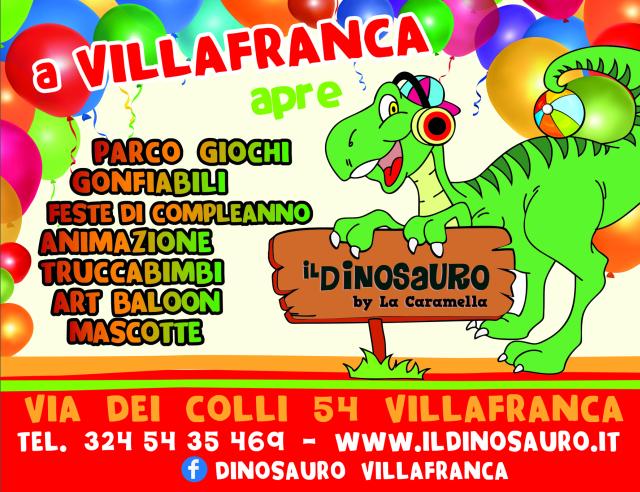 Nuova apertura Ludoteca Il Dinosauro a Villafranca